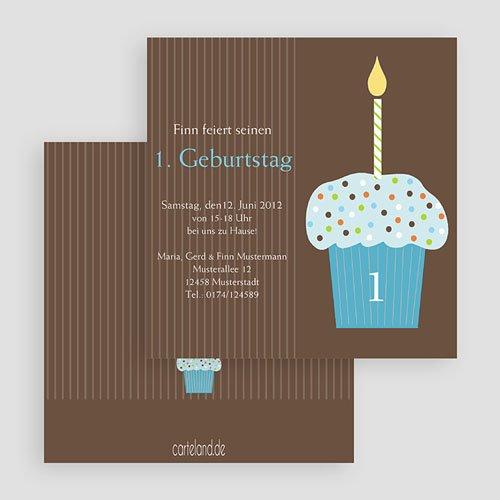 Geburtstagseinladungen Jungen - Cupcake blau 19312 test