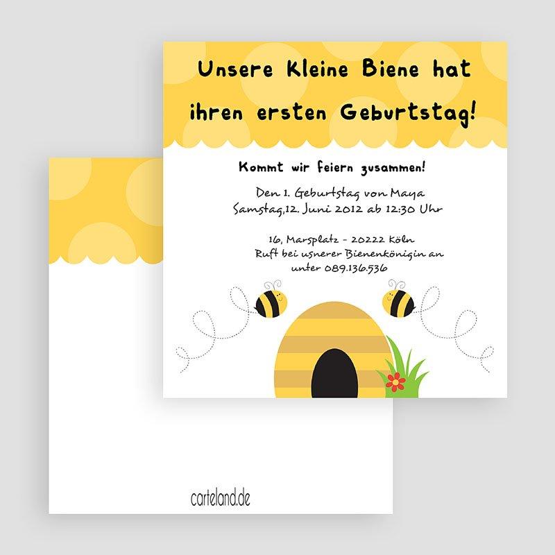 Einladungskarten Geburtstag Jungen Bienen gratuit