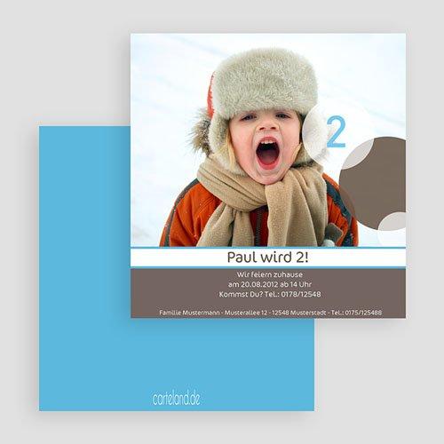 Einladungskarten Geburtstag Jungen Kinderfeier gratuit