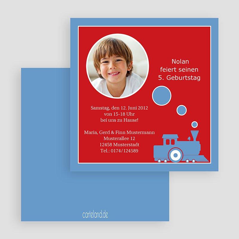 Einladungskarten Geburtstag Jungen Kleiner Zug gratuit