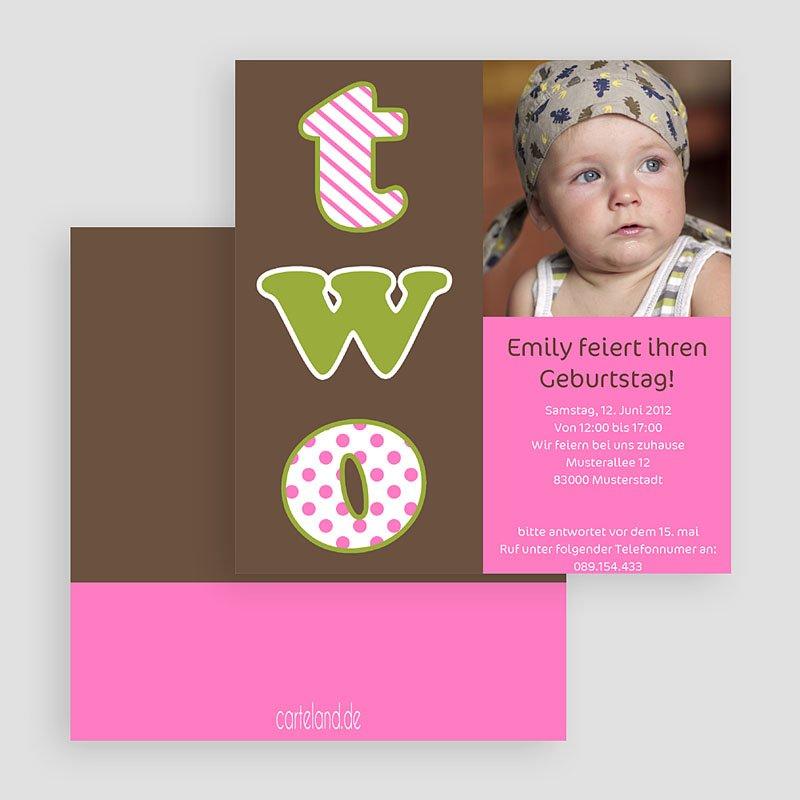 Einladungskarten Geburtstag Mädchen Ausgelassen gratuit