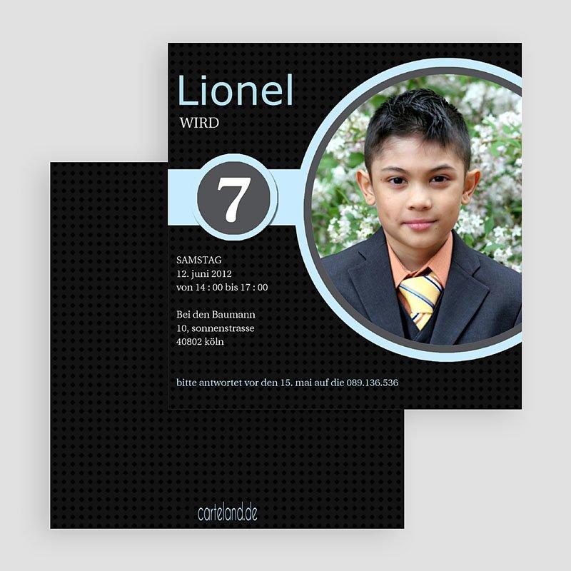 Einladungskarten Geburtstag Jungen Lionel gratuit
