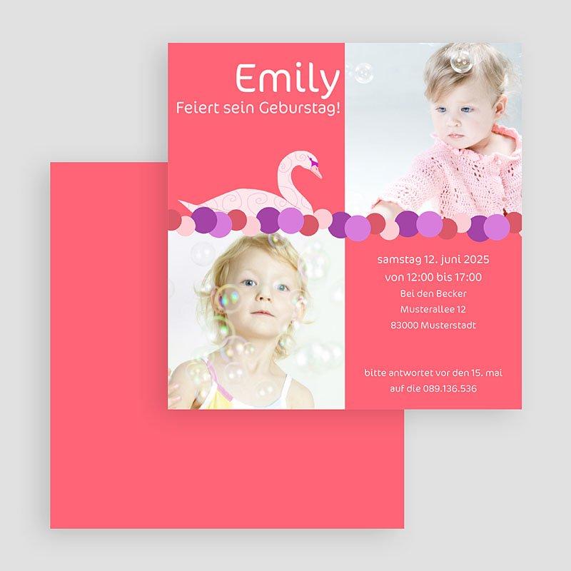 Einladungskarten Geburtstag Jungen Pink gratuit