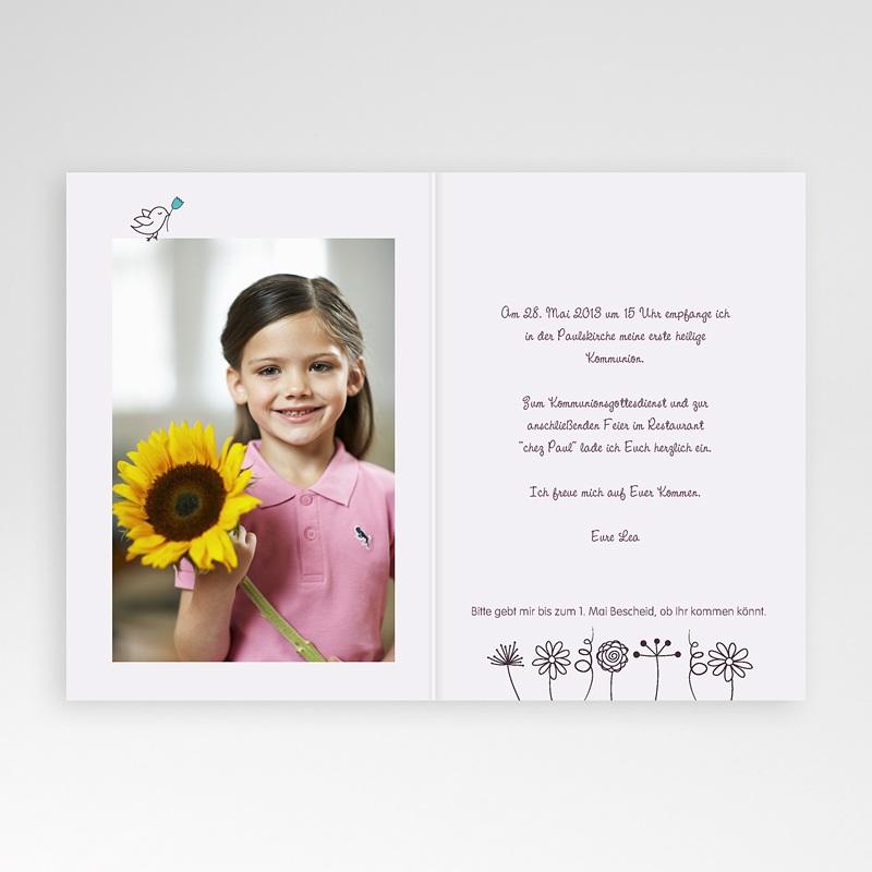 Einladungskarten Kommunion Mädchen - Edel 19365 thumb