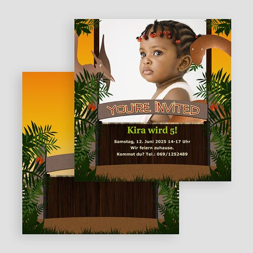 Einladungskarten Geburtstag Jungen Dschungel gratuit