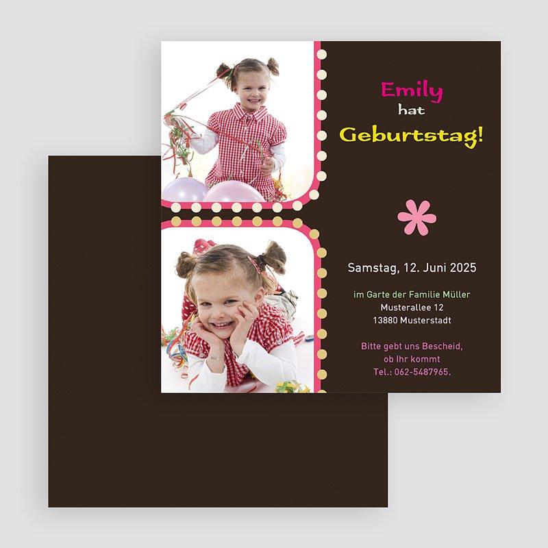 Geburtstagseinladungen Mädchen - Lichterkette 19407 thumb
