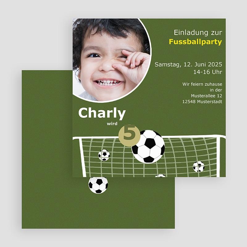 Einladungskarten Geburtstag Jungen Fussballparty gratuit