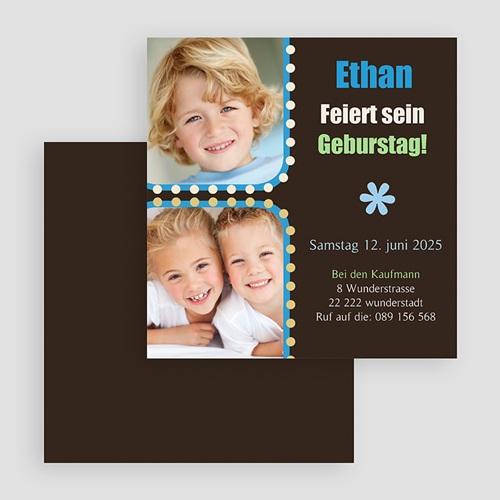 Einladungskarten Geburtstag Jungen Ethan gratuit