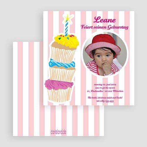 Einladungskarten Geburtstag Mädchen Leane gratuit