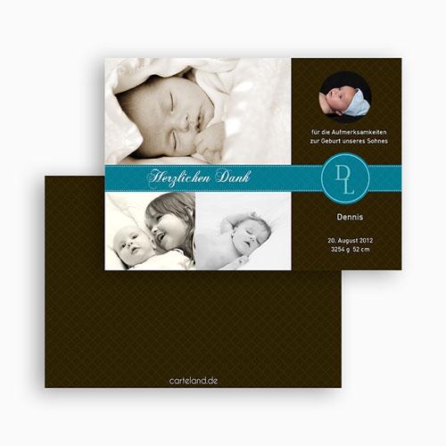 Dankeskarten Geburt Jungen - Valentin 19443 test