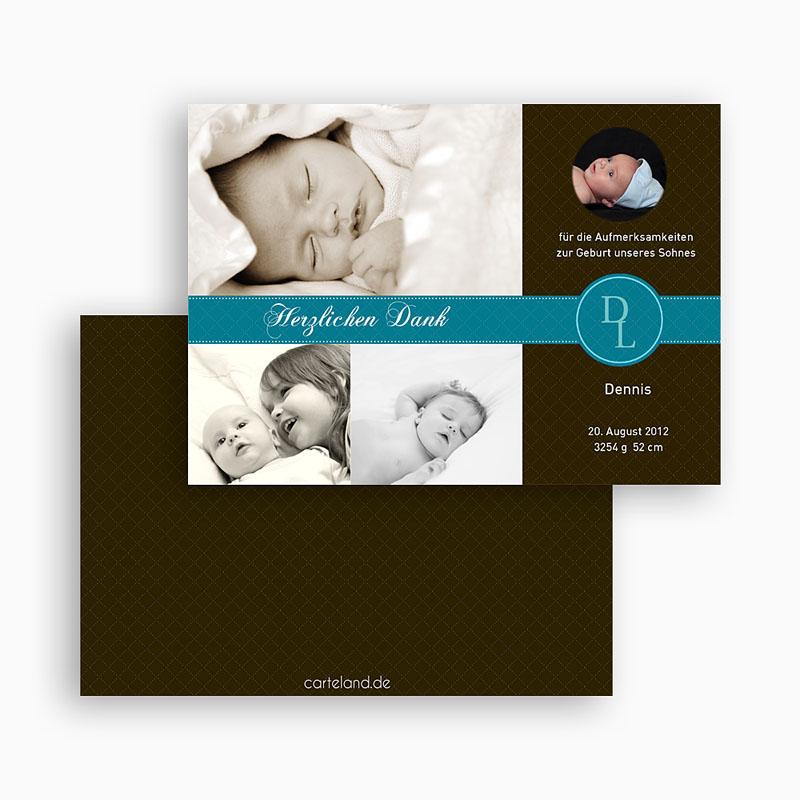 Dankeskarten Geburt Jungen - Valentin 19443 thumb