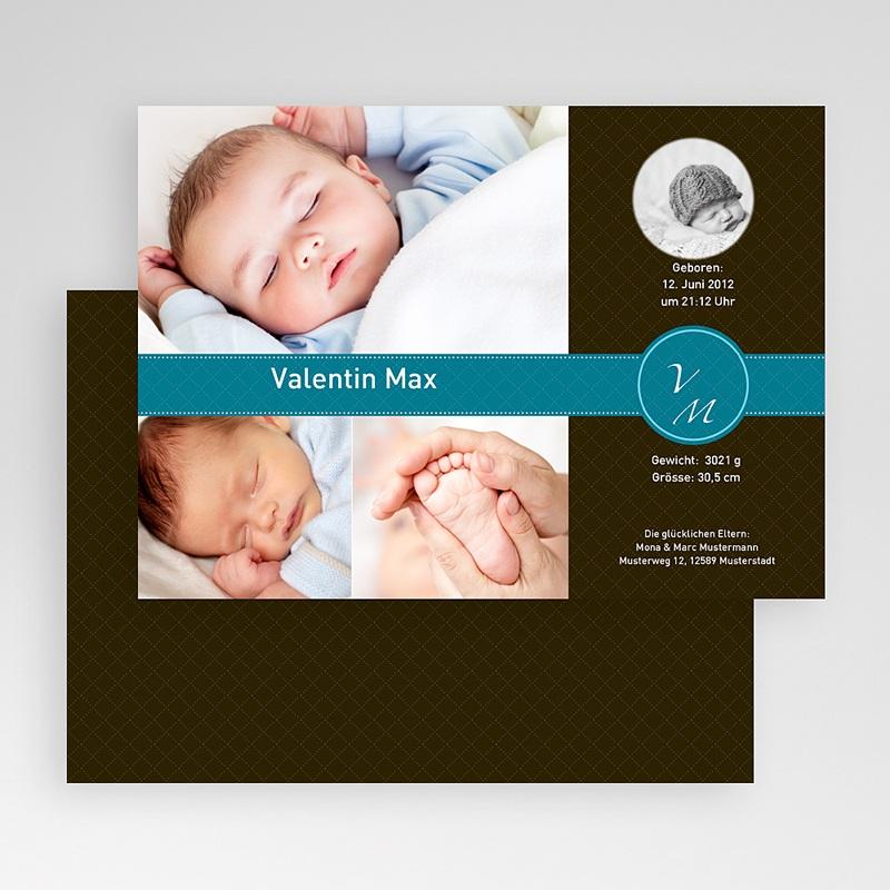 Geburtskarten für Jungen Edles Design gratuit