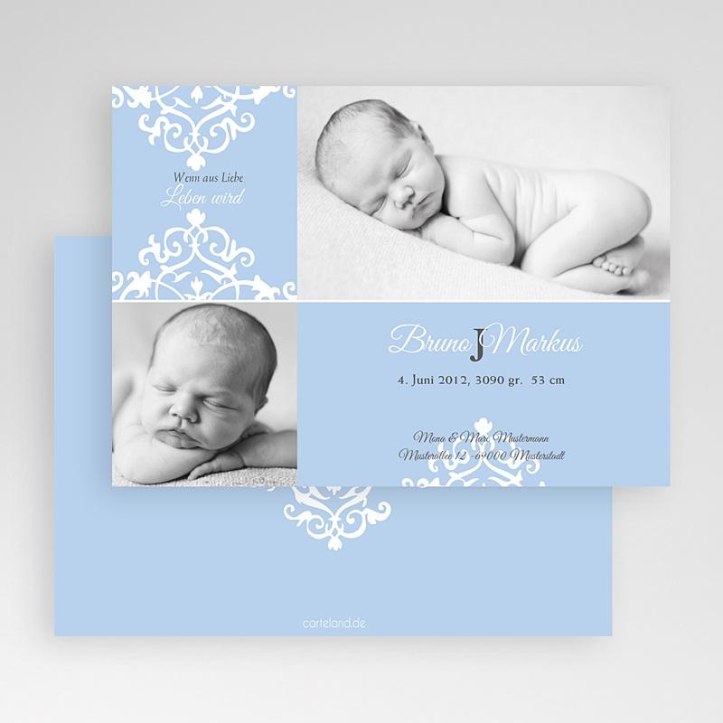 Geburtskarten für Jungen Design Royal - Blau gratuit