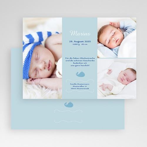 Geburtskarten für Jungen - Wal 19451 thumb