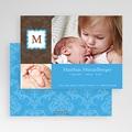 Geburtskarten für Jungen Initialien Baby gratuit