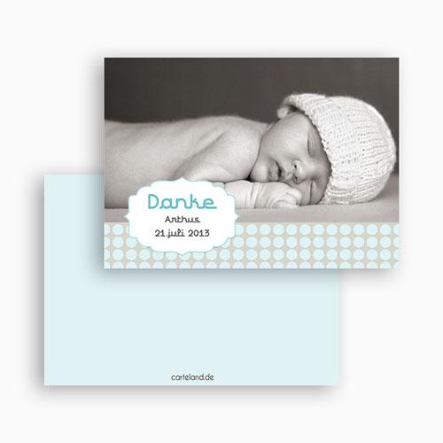 Dankeskarten Geburt Jungen - Oskar 1 19515 test