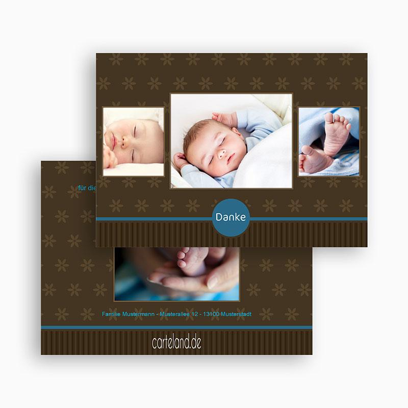 Dankeskarten Geburt Jungen - Bruno 19521 thumb