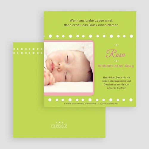Geburtskarten für Mädchen - Pastell 19525 preview