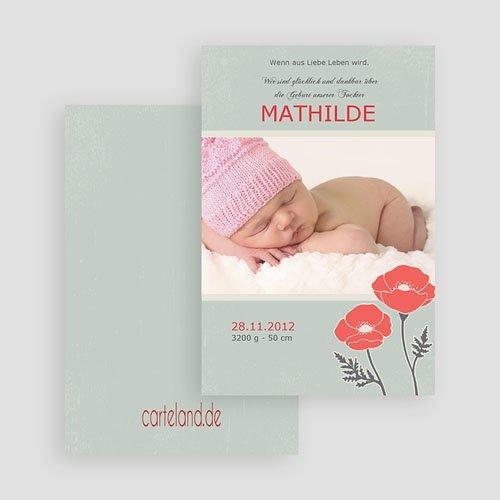 Geburtskarten für Mädchen - Roter Mohn 19559 preview