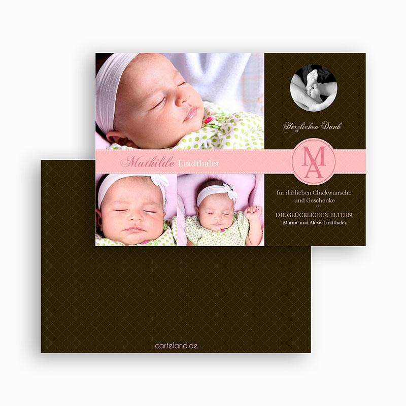 Dankeskarten Geburt Mädchen - Mathilde 19561 thumb