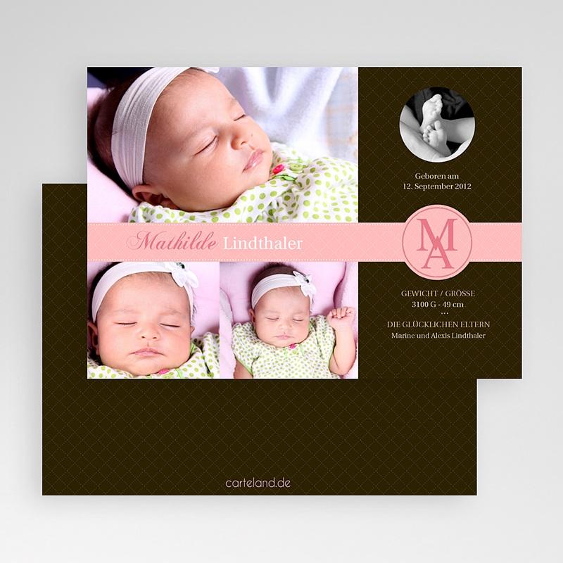 Geburtskarten für Mädchen Perfektes Design gratuit