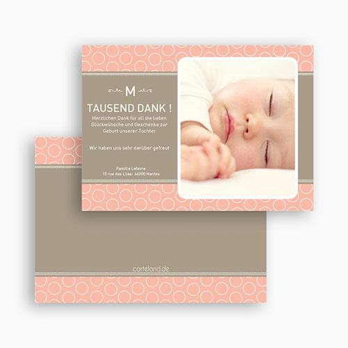 Dankeskarten Geburt Mädchen - Hermina 19638 test