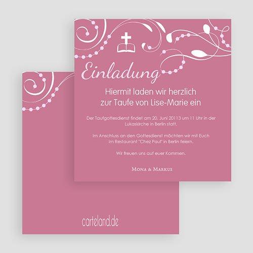 Einladungskarten Taufe Mädchen - Stilvoll 19643 test