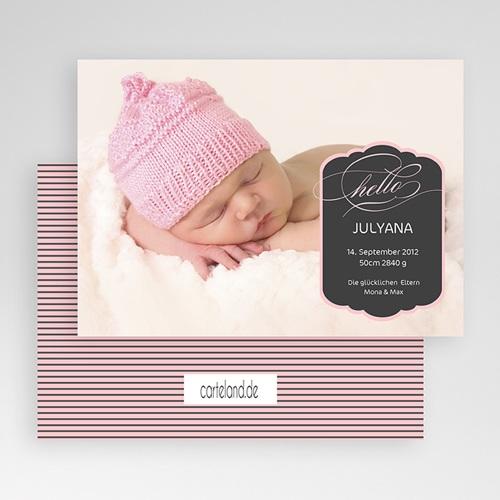 Geburtskarten für Mädchen - Pink 19645 preview