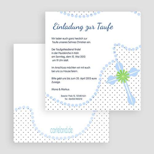 Einladungskarten Taufe Jungen  - Symbolik 19653 preview
