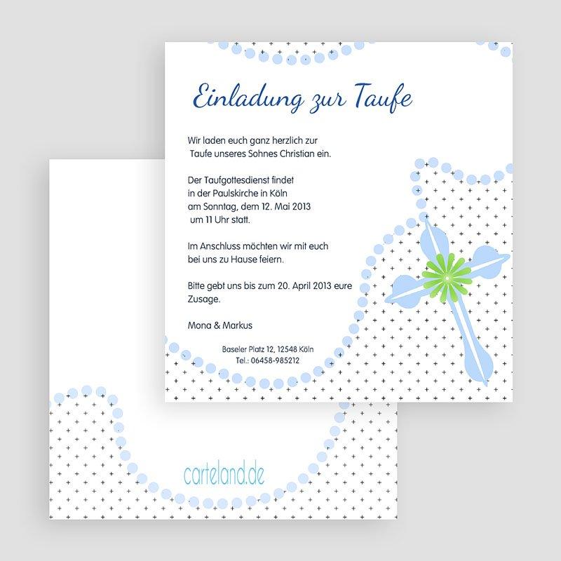 Einladungskarten Taufe für Jungen Symbolik gratuit