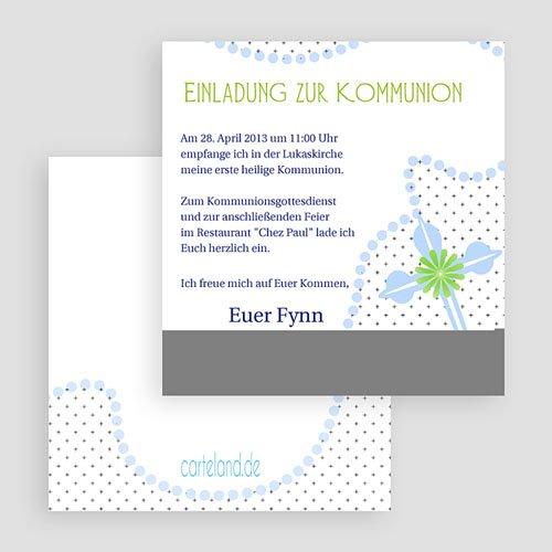 Einladungskarten Kommunion fur Jungen Feierlich verspielt gratuit