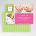 Einladungskarten Taufe für Mädchen Grün Pink gratuit