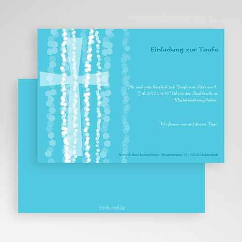 Einladungskarten Taufe für Jungen Isaak gratuit