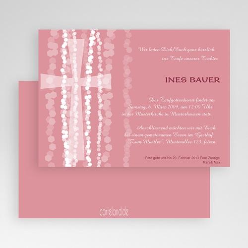 Einladungskarten Taufe Mädchen - Pink 19690 test