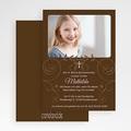 Einladungskarten Kommunion fur Mädchen Blumenranke gratuit