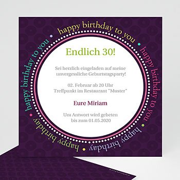 Runde Geburtstage - Geburtstagseinladung - 1