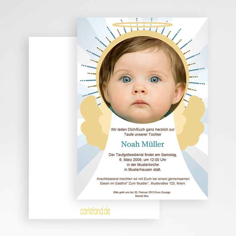 ... Einladungskarten Taufe Jungen   Engel 19732 Thumb