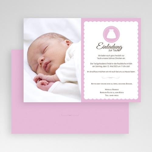 Einladungskarten Taufe für Mädchen Portrait gratuit