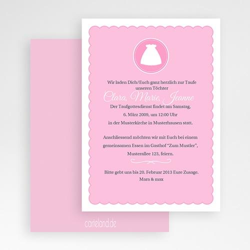 Einladungskarten Taufe Mädchen - Kreuz 19736 test