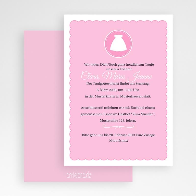 Einladungskarten Taufe Mädchen - Kreuz 19736 thumb