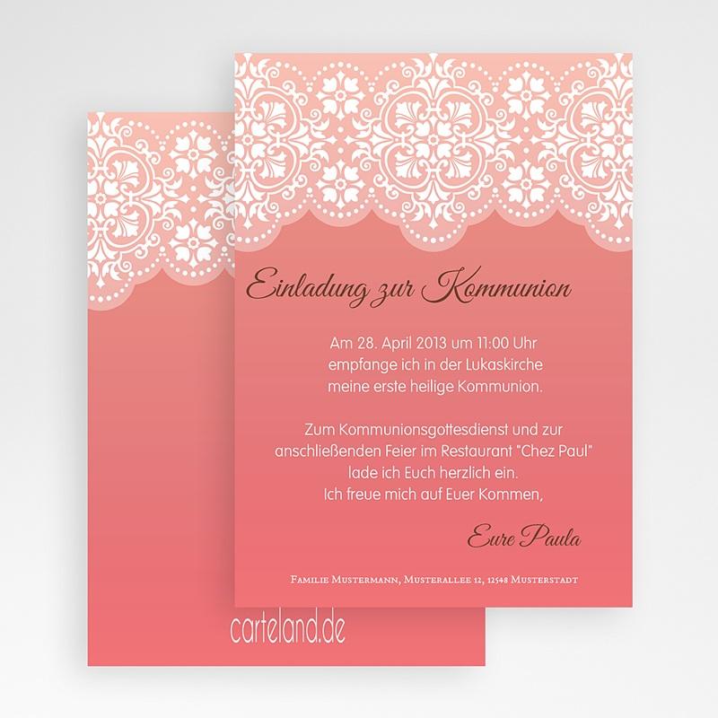 Einladungskarten Kommunion fur Mädchen Spitzenmuster gratuit