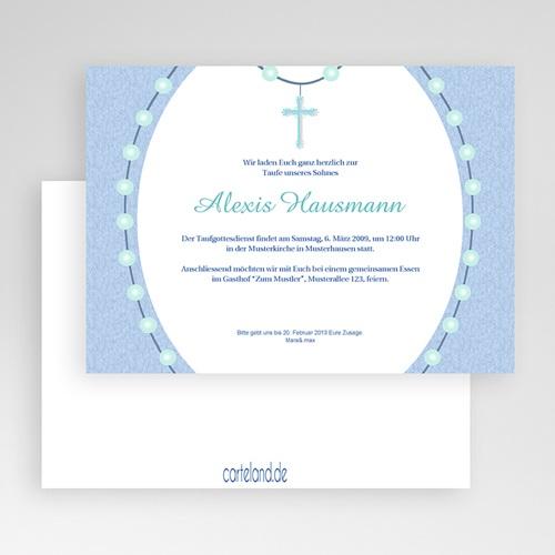 Einladungskarten Taufe Jungen Lazarus gratuit