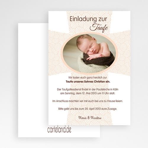 Einladungskarten Taufe für Mädchen Zeremonie gratuit