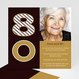 Runde Geburtstage - Einladung zum 80. - 1