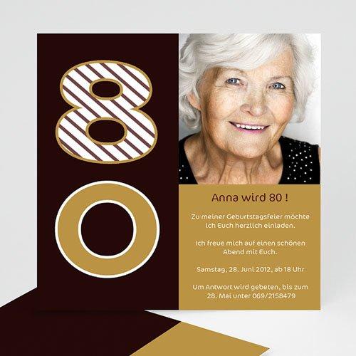 Erwachsener Einladungskarten Geburtstag Runde 80