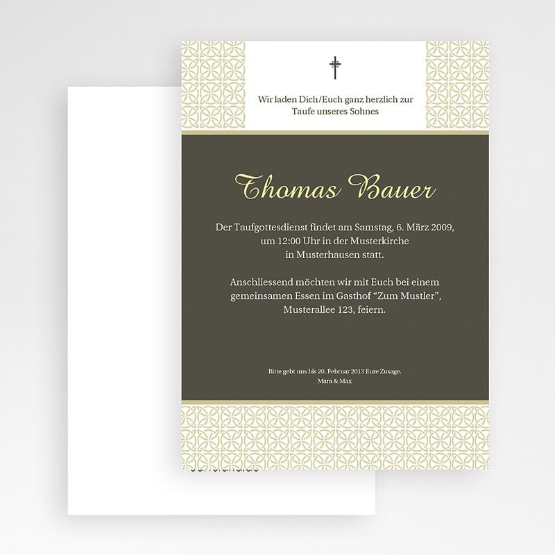 Einladungskarten Taufe für Mädchen Traditionell gratuit