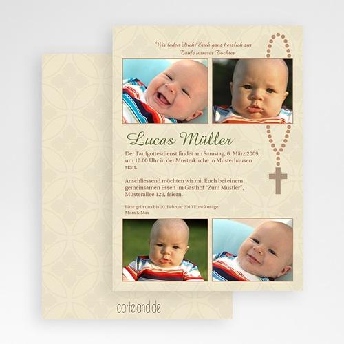 Einladungskarten Taufe Jungen  - Babykreuz 19784 preview