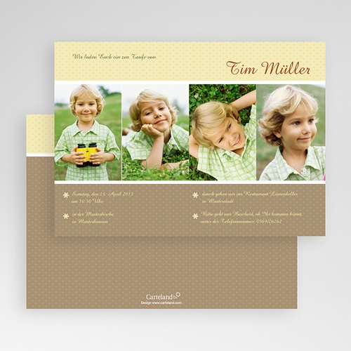 Einladungskarten Taufe Jungen  - Avery 19790 preview
