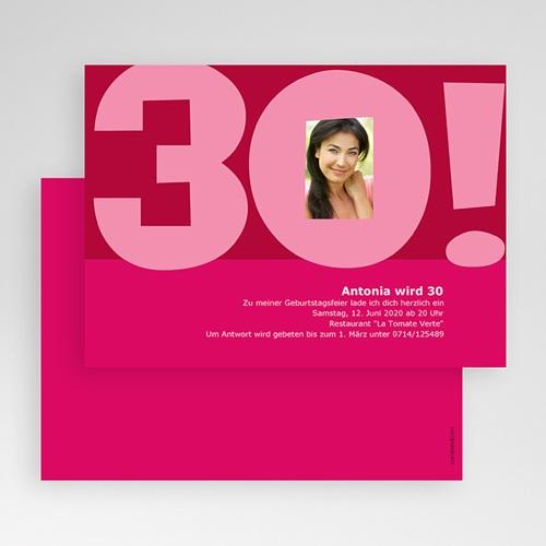 Erwachsener Einladungskarten Geburtstag Rosarot gratuit