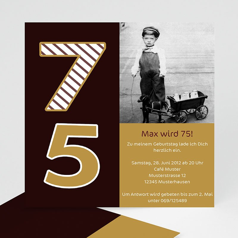 Erwachsener Einladungskarten Geburtstag 75 Jahre